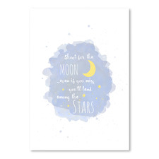Shoot For The Moon Printed Wall Art