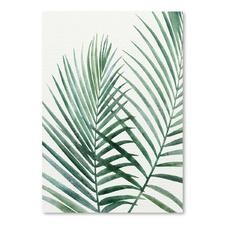Emerald Palms Printed Wall Art