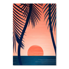 Peace & Palms Printed Wall Art