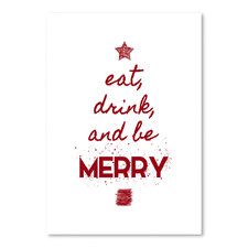 Eat Drink & Be Merry Printed Wall Art