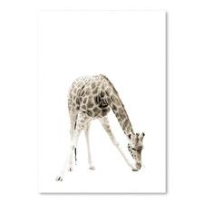 Beige Giraffe III Printed Wall Art