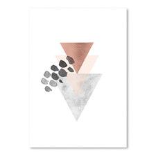 Scandinavian Triangles Printed Wall Art