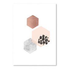 Scandinavian Hexagons Printed Wall Art