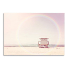 Beach Hut Printed Wall Art