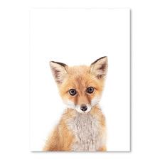 Little Fox Printed Wall Art