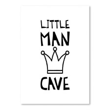 Little Man Cave Printed Wall Art
