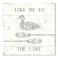 Lake Sketches VII Printed Wall Art