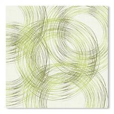 Abstract Circles In Summer Green Printed Wall Art