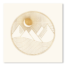 Golden Landscape Printed Wall Art