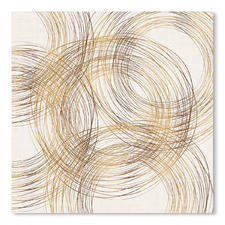 Metallic Circles Printed Wall Art
