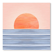 Minimal Sunrise II Printed Wall Art