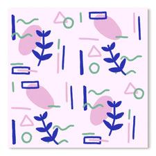 Abstract Plants Printed Wall Art