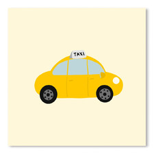 Taxi Printed Wall Art