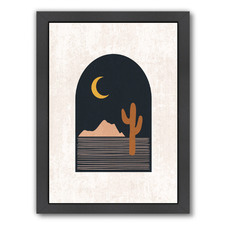 Neutrals Archway With Cactus Printed Wall Art