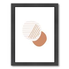 Minimalist Circles Printed Wall Art