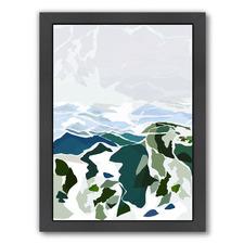 Green Mountains Printed Wall Art