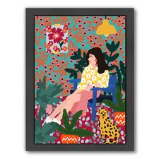 Waiting Girl Printed Wall Art