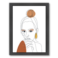 Line Art Woman Printed Wall Art