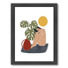 Woman On Rug Printed Wall Art