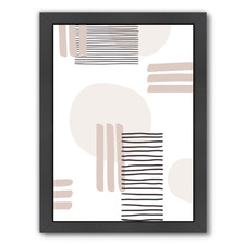 Abstract Lines & Circles Printed Wall Art