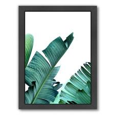 Banana Leaf Printed Wall Art