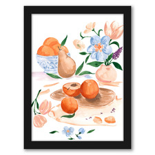 Still Life With Peaches Printed Wall Art