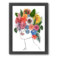 Flower Lady I Printed Wall Art by Annie Warren