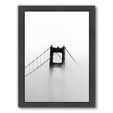 Golden Gate In Fog Printed Wall Art