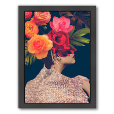 Fleur Collage II Printed Wall Art by Victoria Borges