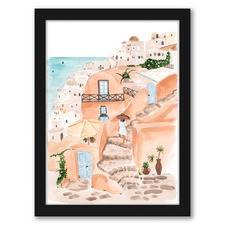 Santorini Printed Wall Art