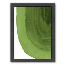 Green Curves Printed Wall Art