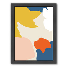Bricolage In Retro Vibes Printed Wall Art