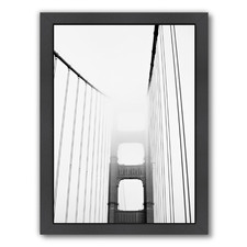 Golden Gate Front In Black & White Printed Wall Art