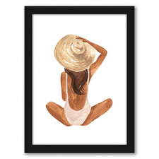 Beach Girl Printed Wall Art