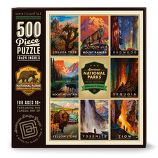 American National Parks II 500 Piece Jigsaw Puzzle