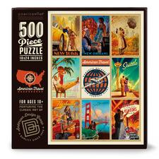 World Travel Romantic Escapes II 500 Piece Jigsaw Puzzle