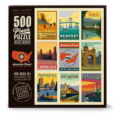 American Travel New England 500 Piece Jigsaw Puzzle