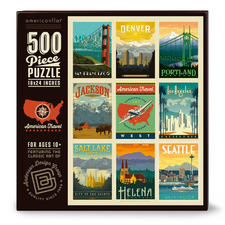 American Travel West 500 Piece Jigsaw Puzzle