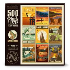 Lake & Lodge 500 Piece Jigsaw Puzzle