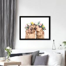Alpaca Love Printed Wall Art