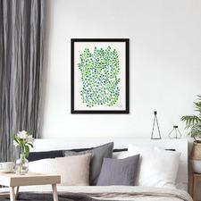 Green Ivy Printed Wall Art