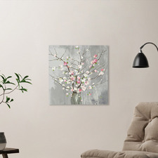 Delicate Pink Blooms Printed Wall Art