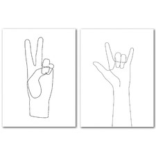Peace Canvas Wall Art Diptych by Explicit Design