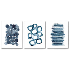 Watercolour Shapes Canvas Wall Art Triptych by Lisa Nohren