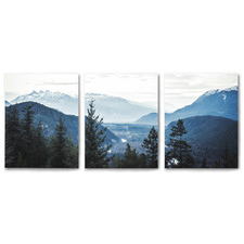 Morning Mountain Views Canvas Wall Art Triptych by Tanya Shumkina