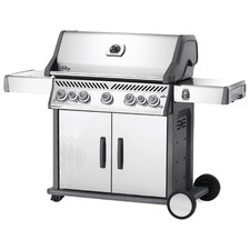 Stainless Steel Rogue 5 Burner Gas BBQ with Side & Rear Burners
