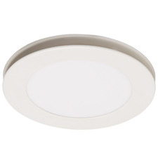 White Flow Round Bathroom Exhaust Fan with LED