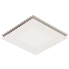 White Flow Square Bathroom Exhaust Fan with LED