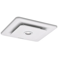 White Tetra II Bathroom Exhaust Fan with LED