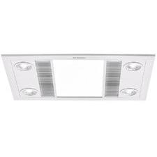 Linear 4 LED Bathroom Heater with Exhaust Fan